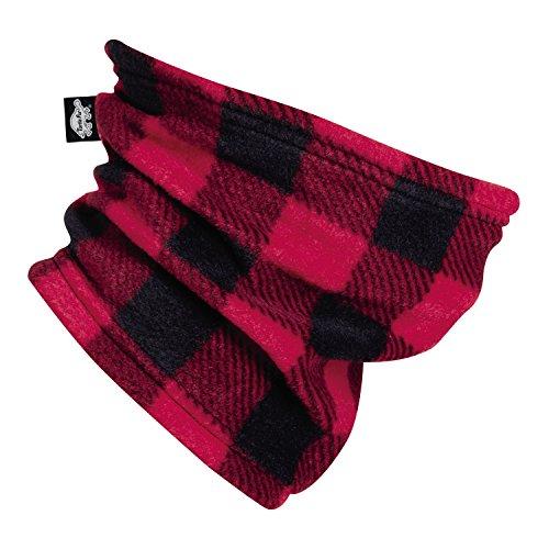 Turtle Fur Kids Single-Layer Classic Fleece Playful Prints Neck Warmer Lumberjack