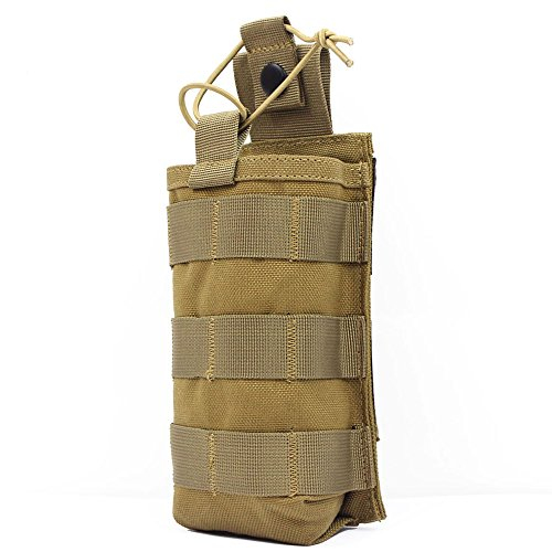 - LytHarvest Molle Tactical Radio Pouch, Tactical Water Bottle Pouch for 550ml Water Bottle (TAN)