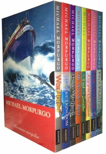 Michael Morpurgo Collection Childrens 8 Books Set Boxed (King of the Cloud Forests, Escape from Shangri-La, Why the Whales Came, Kensuke's Kingdom, Long Way Home, The Wreck of the Zanzibar, Mr Nobody's Eyes and War (Nobodys Horses)