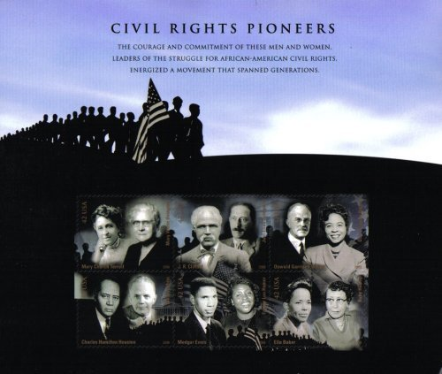 Civil Rights Pioneers Souvenir Sheet of Six 42 Cents Stamps Scott 4384 by (6 Stamps Souvenir Sheet)