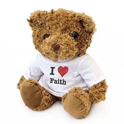Faith Teddy Bear - New - I Love Faith - Teddy Bear - Cute and Cuddly - Gift Present Birthday Xmas Valentine