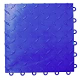 Speedway Garage Tile 789453BL-50 Diamond Garage Floor 6 LOCK Diamond Tile 50 Pack, Blue