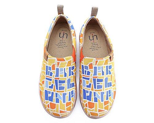 UIN Damen Barcelona Code Schöne Canvas Reise Schuhe Gelb