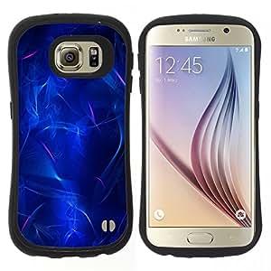 """Pulsar iFace Series Tpu silicona Carcasa Funda Case para Samsung Galaxy S6 , Eléctricos Luz Agua Luces abstractas"""""""
