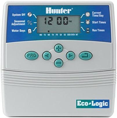 HUNTER ELC-601I-E Programador de riego eléctrico Interior, Gris, 25.5x18.5x8.0 cm