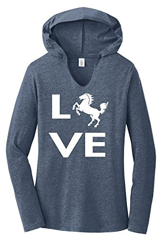 Comical Shirt Ladies Love Horse Silhouette Graphic Tee Hoodie Shirt