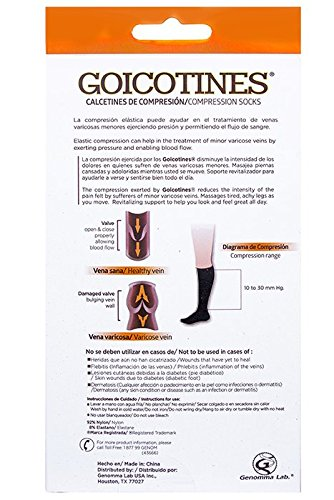 Amazon.com: Goicotines Compression Socks in Black for inflammation and varicose veins, 2 Pair: Health & Personal Care
