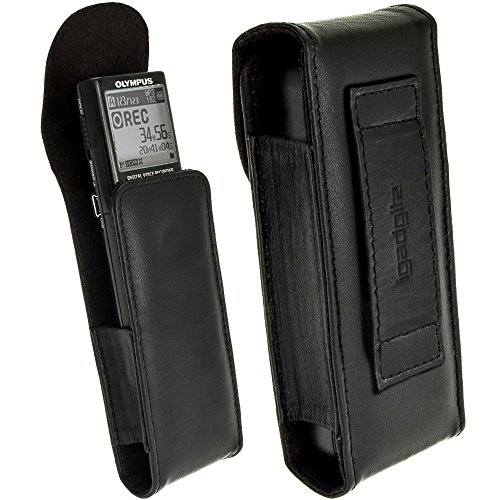Olympus Slim Leather Case - iGadgitz Black Genuine Leather Case