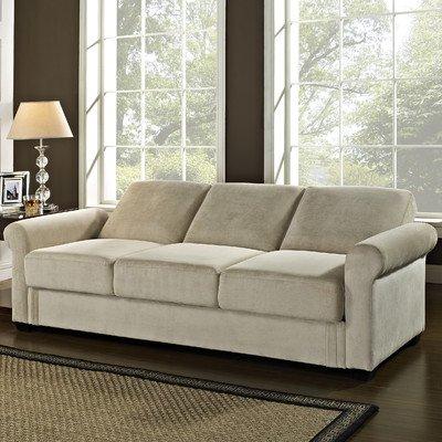 Lifestyle Solutions Serta Dream Thomas Convertible Sofa in Light Brown