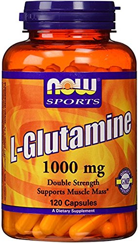 NOW Foods L Glutamine 1,000 mg Caps, 120 ct