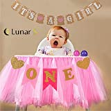 Best UNIQUE High Chair For Babies - Lunar S Pink 1st Birthday Girl Baby Tutu Review