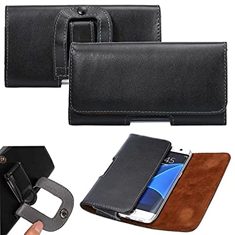 Gukas Genunie Leather Universal Holster Case For Doro PhoneEasy 613 611 508 632 631 745 621 612 6030 Nokia 3720 6303 6700 E7-00 6230i 6300 3310 5000 N8 6310i 8210 6210 5140i 5800 6233 108 (Nokia 6233 Case)