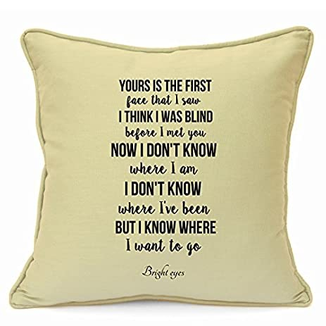 Amazon.com: Bright Eyes Pillow Covers 18 x 18 Valentines Day Wedding ...