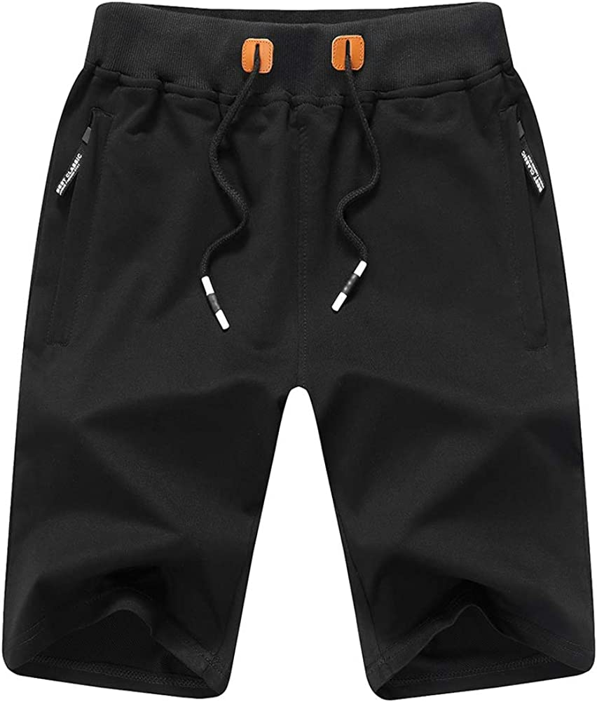Swibitter Men's Casual Cotton Joggers Breathable Active Gym Shorts for Workout,Training,Jogging