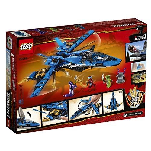 51QheOr5X8L - LEGO NINJAGO Legacy Jay's Storm Fighter 70668 Building Kit, New 2019 (490 Pieces)