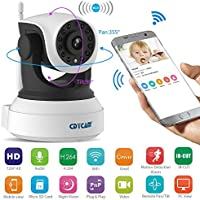 Cdycam Smart 720P HD Wireless IP Camera Home Security Surveillance Baby Pet Monitor with 2 Ways Audio ,Night Vision, Video Recording for Android, iOS, Windows PC system