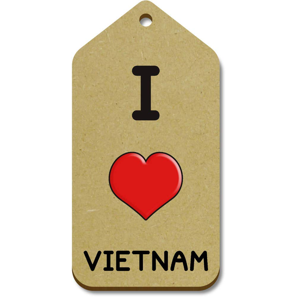 Stamp Press 10 x Grande I Love Vietnam Regalo/Equipaje Etiquetas ...