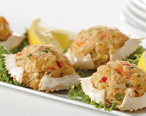 (Handy Seafood 1.5 Oz Mini Stuffed Crab Shells (3 pack - 18 stuffed shells total))