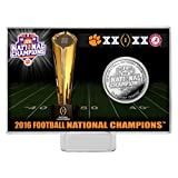 NCAA Clemson Tigers Highland 2016 Football National Champions Coin Card, Silver