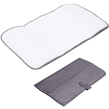 8d79e0872c89 Lekebaby Foldable Travel Changing Mat Portable Baby Change Mat, Grey ...