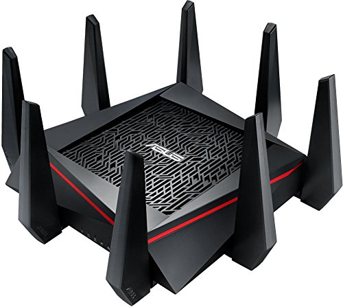 Asus RT-AC5300 Pro-Gamer WLAN Router (Ping Beschleuniger, Link Aggregation, 1.4 GHz Dual-Core CPU, App Steuerung, AiProtection by Trendmirco, Wave2 Mu-Mimo, Multifunktion-USB 3.0)
