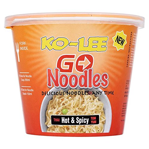 Ko-Lee Go Noodles Thai Hot & Spicy Tom Yum 65g (Pack of 6) by Ko-Lee