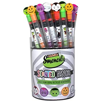 halloween smencils cylinder 50 ct of scented pencils by scentco