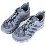 FREE SOLDIER Outdoor Men's Upstream Shoes Ultra Light Breathable Quick Drying Tactical Shoes (Gray, 9)