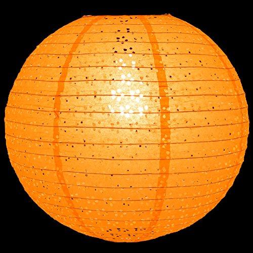 Quasimoon-12-Round-Eyelet-Lace-Look-Paper-Lantern-Orange-by-PaperLanternStore