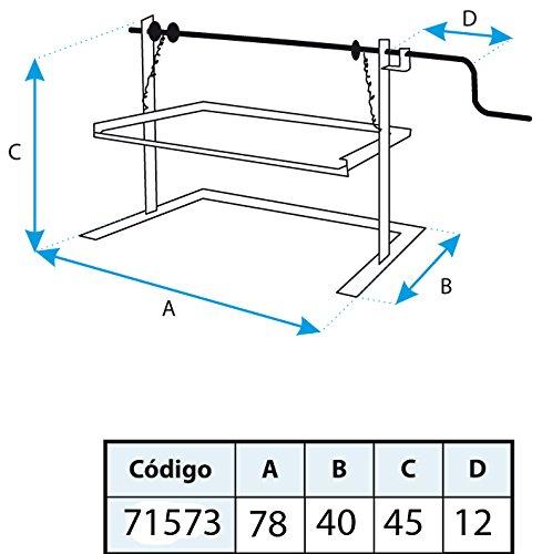 Imex El Zorro 71573 Soporte elevador recto, 78 x 42 x 43 cm