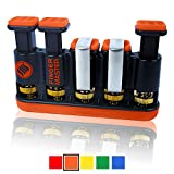 Finger Master Hand Exerciser - Best Hand & Finger Strengthener For Grip & Finger Strengthening, Guitar Practice, Rock Climbing Training And Trigger Finger Training - Orange