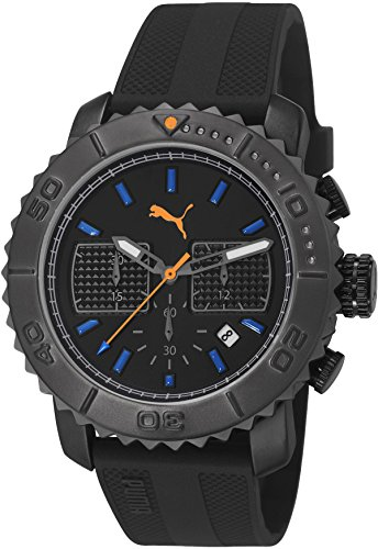 PUMA PU103561003 - Wristwatch, unisex, Plastic, Black Color