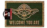 1art1 Star Wars Door Mat Floor Mat - Yoda, Welcome