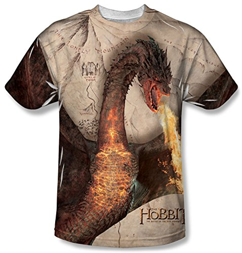 Youth: The Hobbit: The Battle of the Five Armies - Smaug Attack Kids T-Shirt Size YL