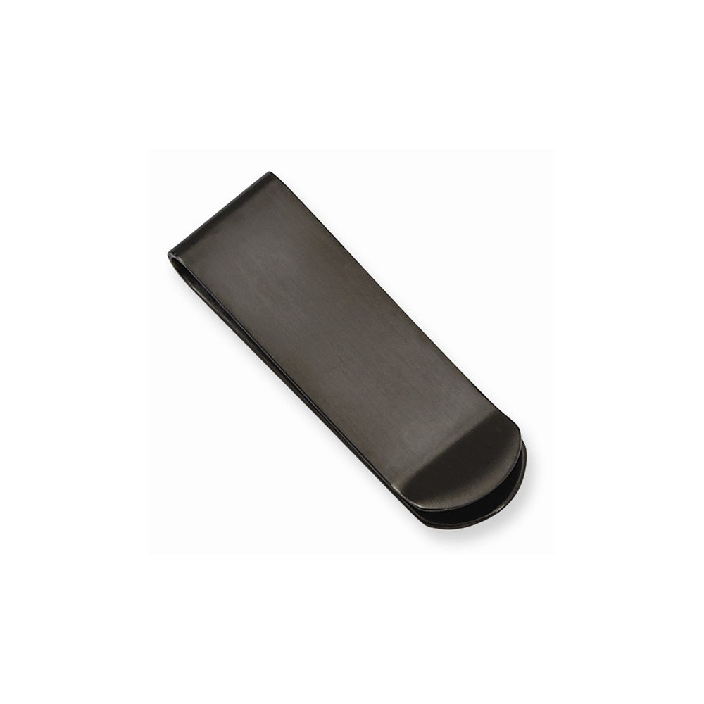 viStar Stainless Steel Brushed Black IP-plated Money Clip