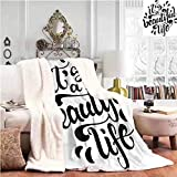 Comfortable Sofa Blanket Throw Size Positive Life