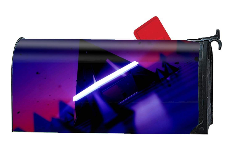 scakoko Abstract Triangle Purple Light Dark Magnetic Mailbox Cover Welcome Seasons Mailbox Wrap Standard