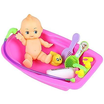 Baby Alive Bath Tub.Amazon Com Juokk Infant Early Educational Play Set Doll