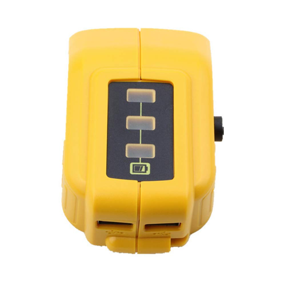 hefeibiaoduanjia For Dewalt DCB091 Li-ion Battery USB Charge Converter 12VDC Output Heated Jacket For Dewalt DCB091 Li-ion Battery USB Charge Converter Yellow