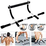 Alextreme Pull Up Bar Door Pull-up Exercise Training Bar Indoor Sport Fitness Equipments (Black White)