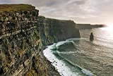 Wallmonkeys Magical Cliffs of Moher Peel and Stick Wall Decals WM166123 (24 in W x 16 in H)