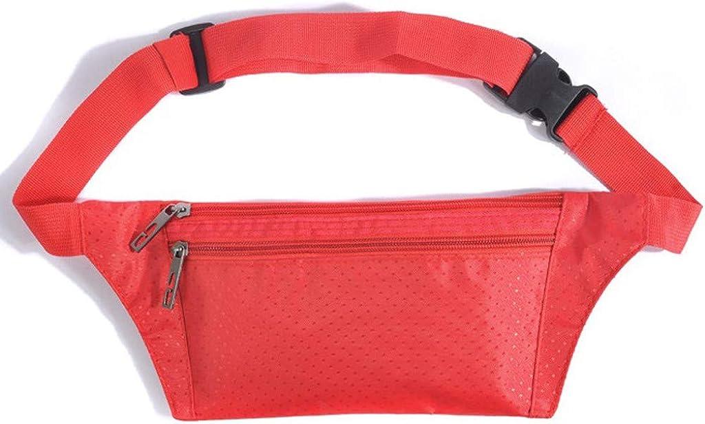 Travel Fanny Bag Waist Pack Mens and Women/'s Simple Leisure Solid Waterproof Sport Fitness Waist Packs