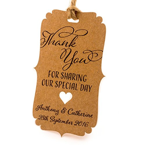 100pcs kraft paper gift tags wedding favor tags thank you tag