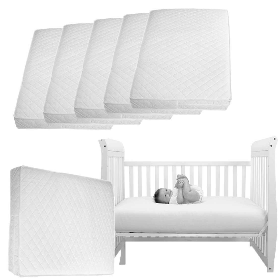 Bassinet & Cradle Mattresses 74x28x4cm & 84x43x4cm Quilte Moses Basket Foam Moses Basket or Pram Mattress Rounded Both Ends (74x28x4cm) Zi Foam Ltd Z74cm