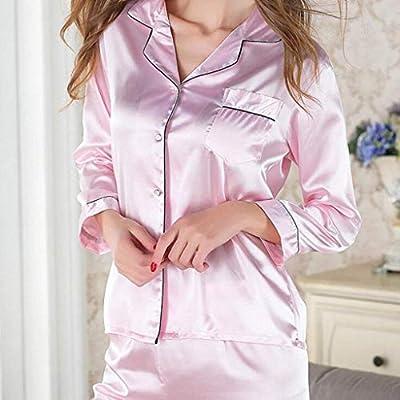 SYN Pijamas de casa damas, Traje de pijama, Algodón con bolsillos ...