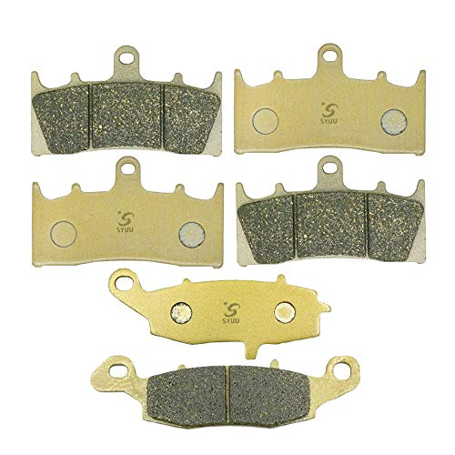 (SYUU Motorcycle Replacement Front Rear Brake Pads Brakes for Kawasaki VN1500 VN 1500 P1 P2 Mean Streak 2002 2003 2004 FA188F FA188F FA231R )