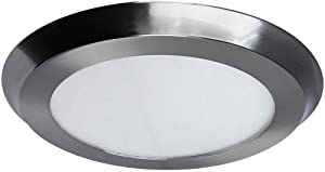 Home Decorators Collection 74023/HD 22-Watt 15 in. Nickel LED Flat Round Panel
