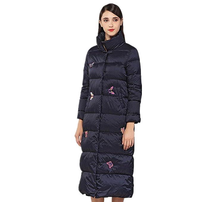 RSTJ-Sjc Larga sección de chaqueta mujer invierno nuevo ...