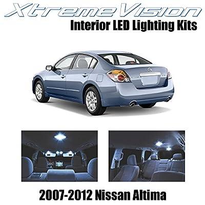 XtremeVision Interior LED for Nissan Altima Sedan 2007-2012 (10 Pieces) Cool White Interior LED Kit + Installation Tool Tool: Automotive