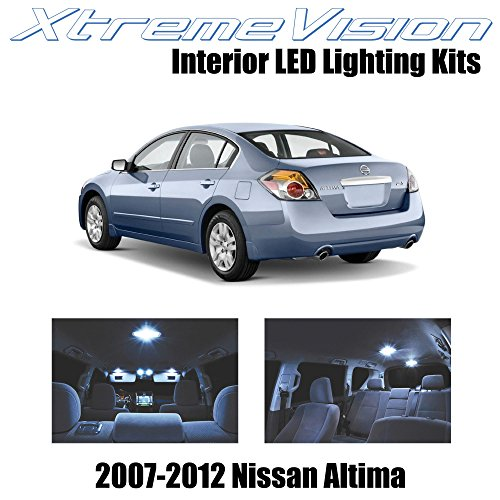 XtremeVision Interior LED for Nissan Altima Sedan 2007-2012 (10 Pieces) Cool White Interior LED Kit + Installation Tool Tool ()